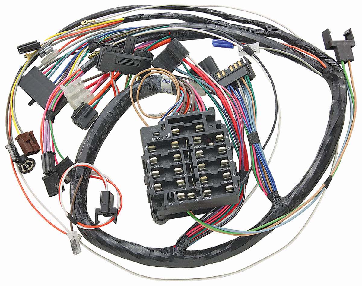 m h 1971 gto dash harness without gauges   opgi com 1969 Firebird Wiring Harness 1957 Chevy Wiring Harness