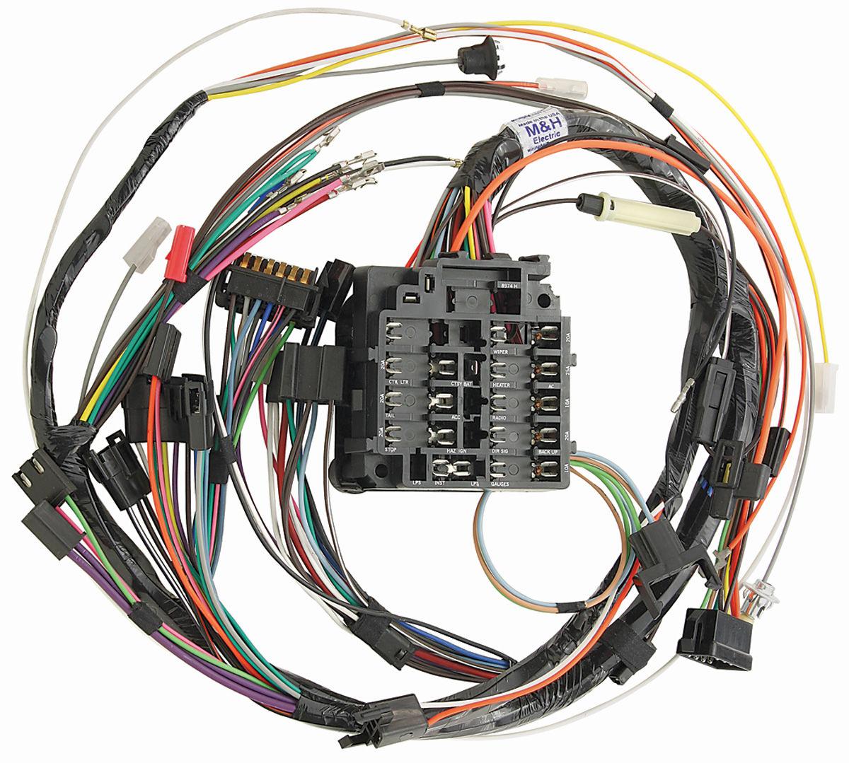 m h 1968 gto dash harness column shift and manual transmissions all rh opgi com