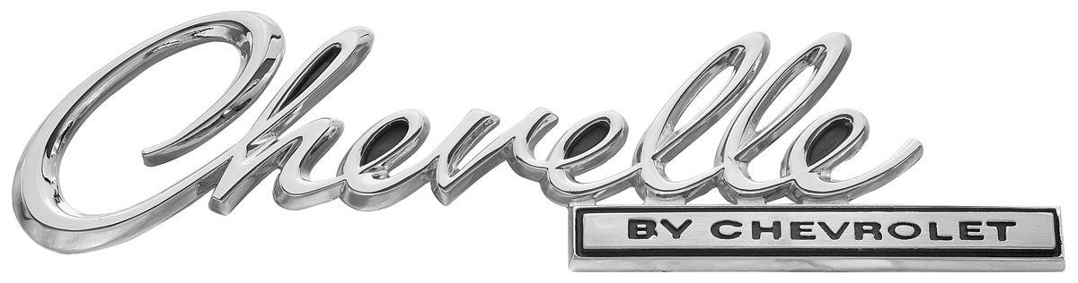Restoparts Trunk Lid Emblem 1969 Quot Chevelle Quot Fits 1969
