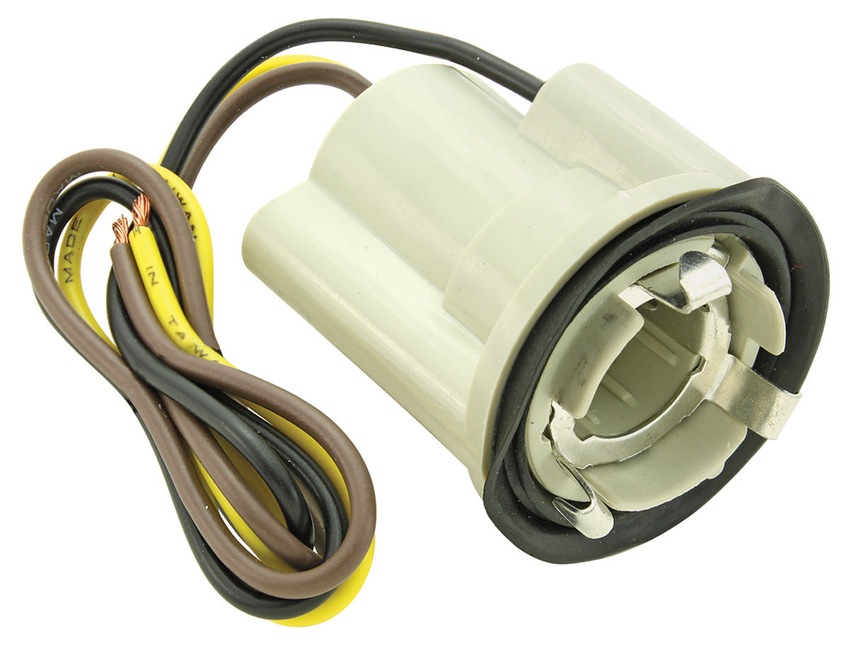 1978 88 Monte Carlo Light Socket Park Stop Tail 3 Wire Acdelco Wiring Fits 1 Hole Internal Ground Seat 7 8 Twist Lock