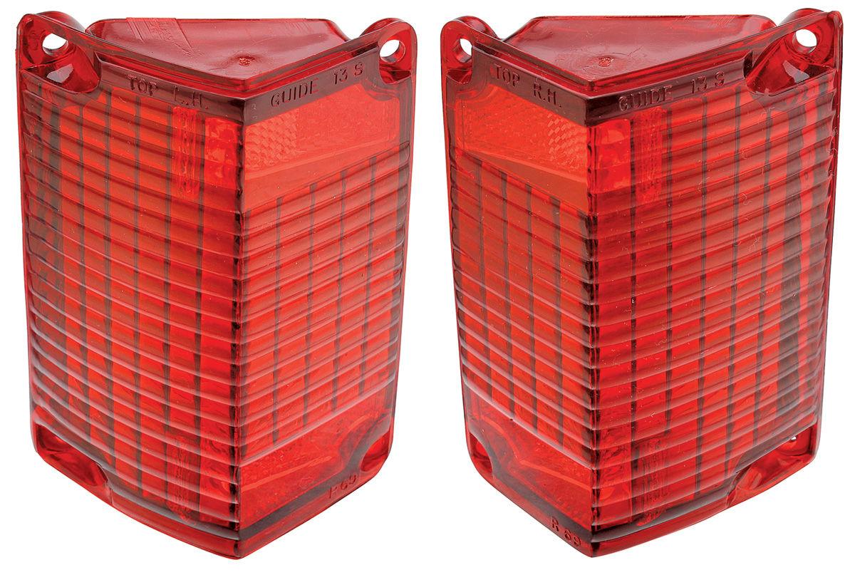 LH USA MADE Trim Par 68-69 El Camino Wagon Tail Light Lamp Lens w//Gasket USA