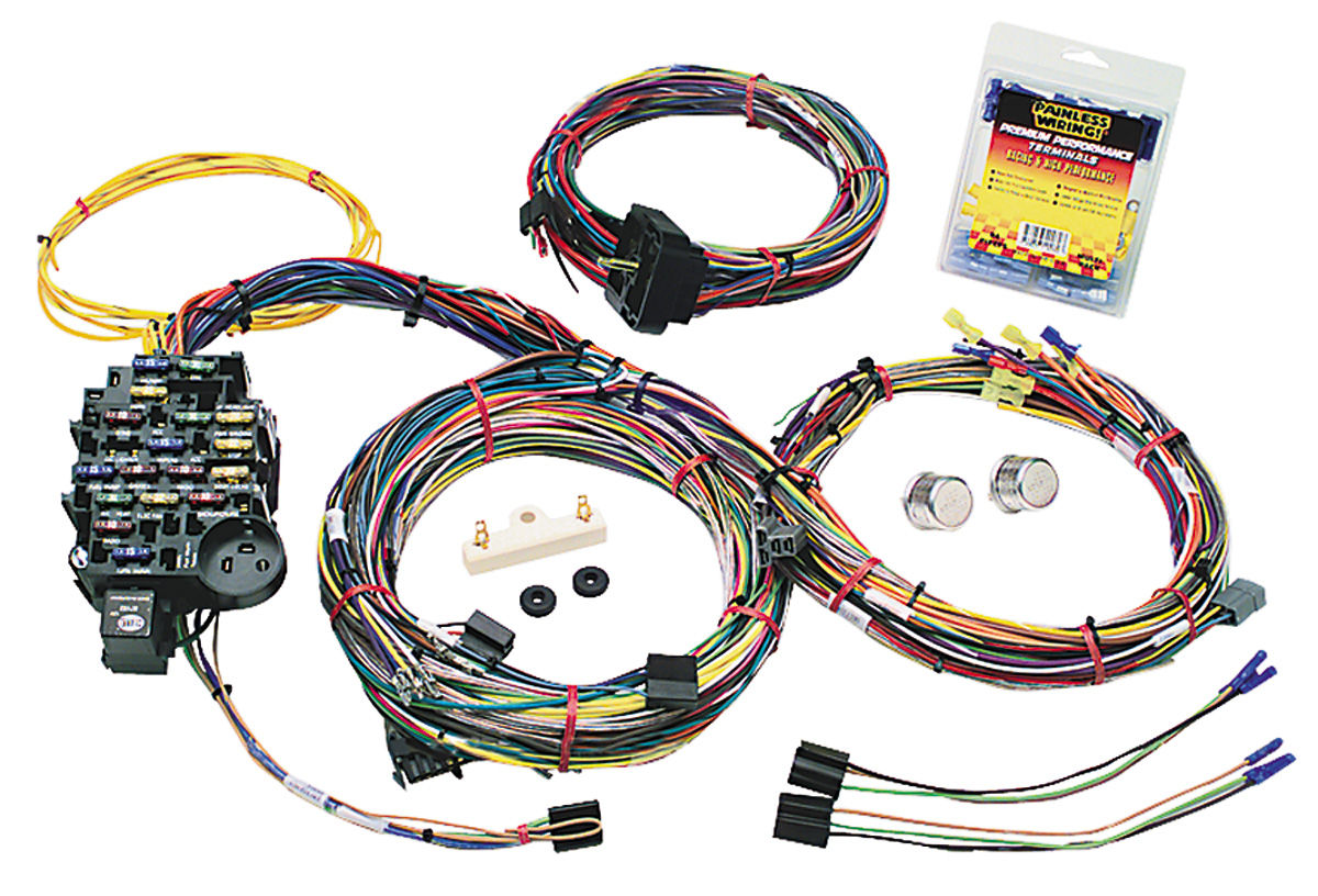 S220102 lrg painless performance 1969 72 gto wiring harness, muscle car gm 25 1971 camaro wiring harness at gsmx.co