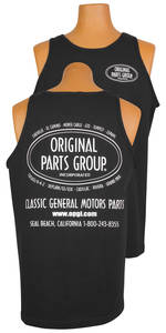 1961-1972 Skylark Original Parts Group Tank Tops    black