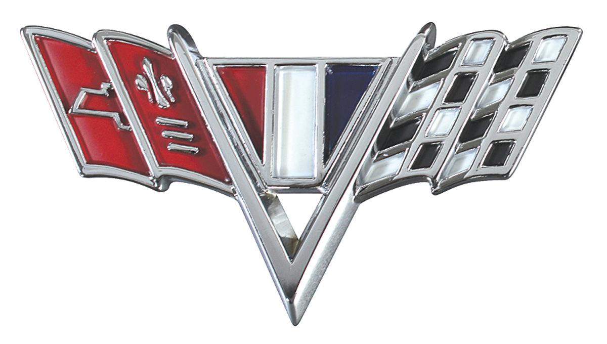 Restoparts Chevelle Fender Emblem V Flags Fits 1964 67