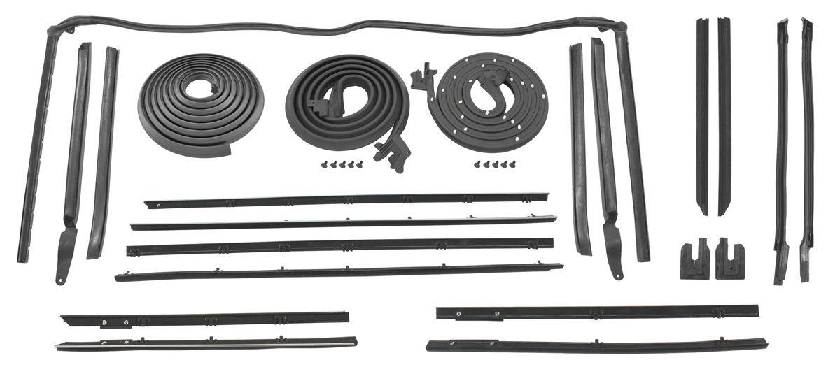 1964 weatherstrip kit stage i skylark convertible original style felts. Black Bedroom Furniture Sets. Home Design Ideas