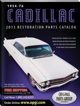 free 1954 76 cadillac restoration parts catalog