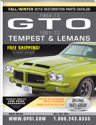 1961-1973 GTO, LeMans, and Tempest Parts Catalog