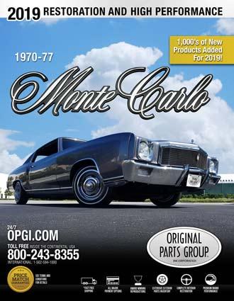 Free 1970-1977 Monte Carlo Restoration Parts Catalog @ OPGI com