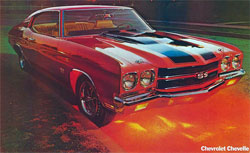 1970 chevelle ss foldout poster parts