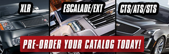 Cadillac CTS/ATS/STS, Escalade/Escalade EXT, and XLR catalogs ready for preorder