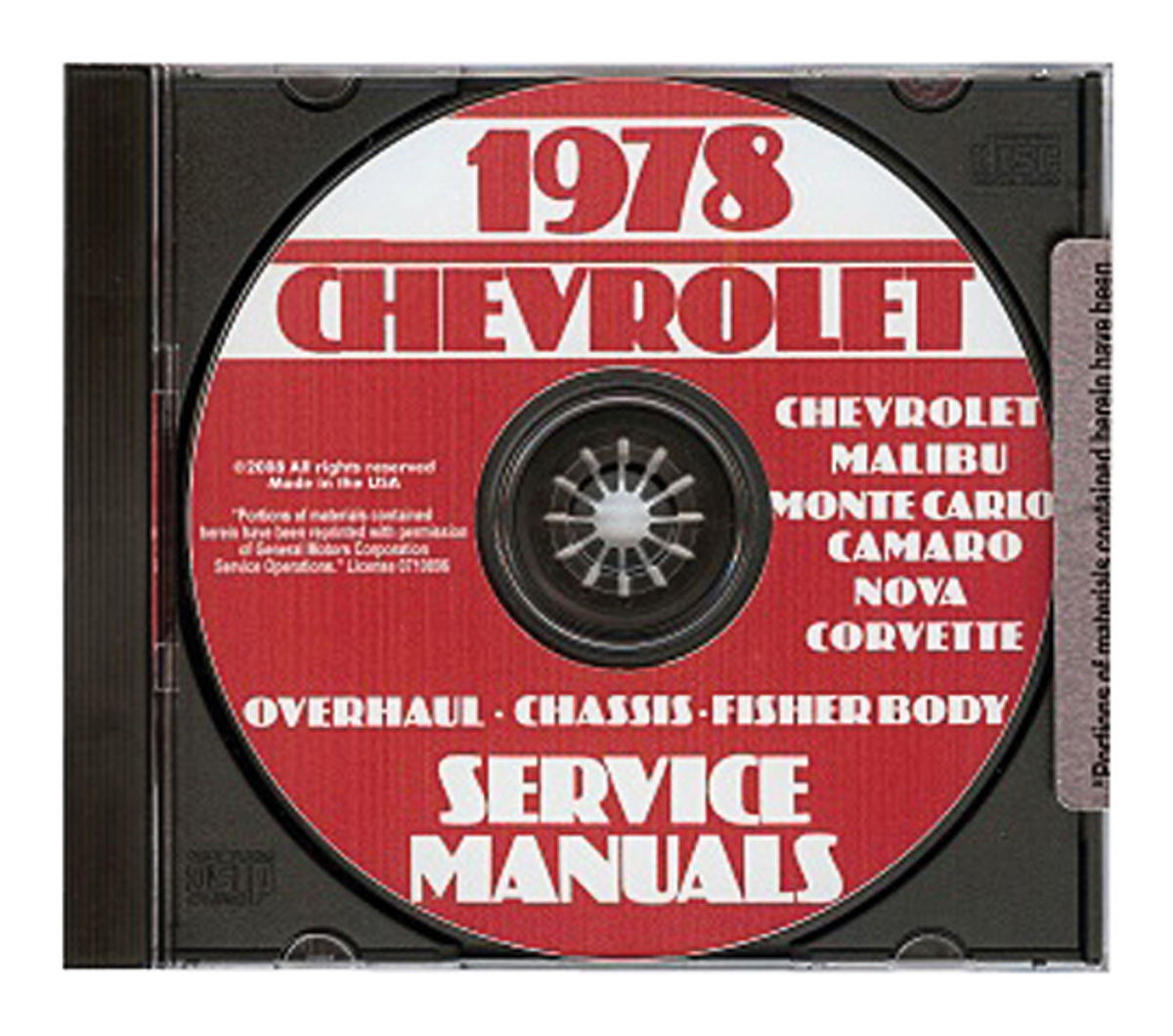 Chassis Overhaul Manual, CD-ROM, 1978 Chevrolet