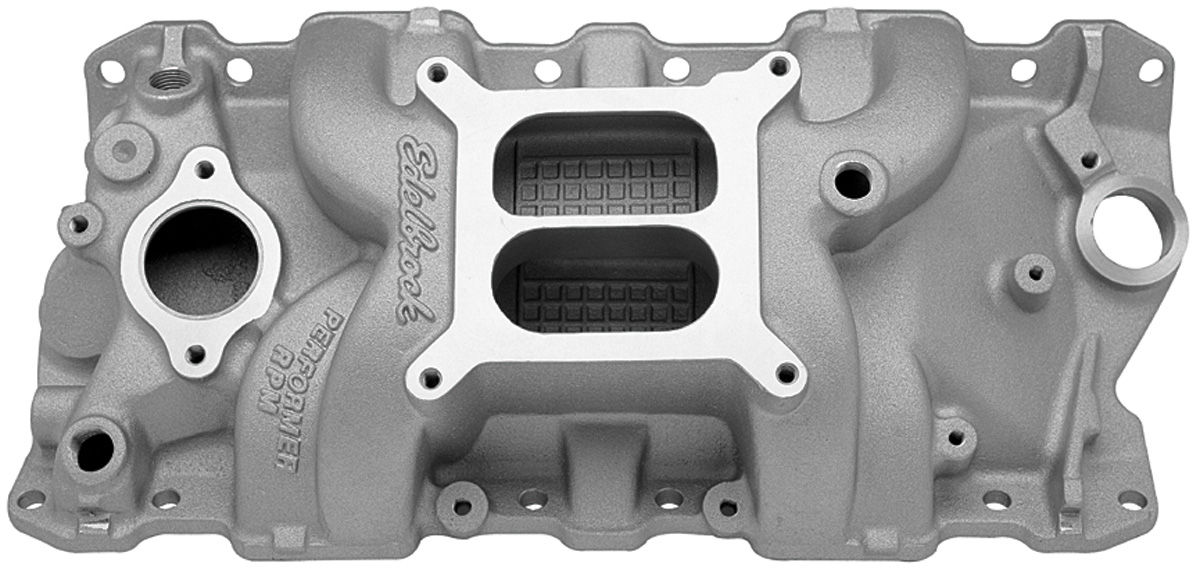Intake Manifold, Edelbrock, Performer RPM, SB Chevy, Square Bore