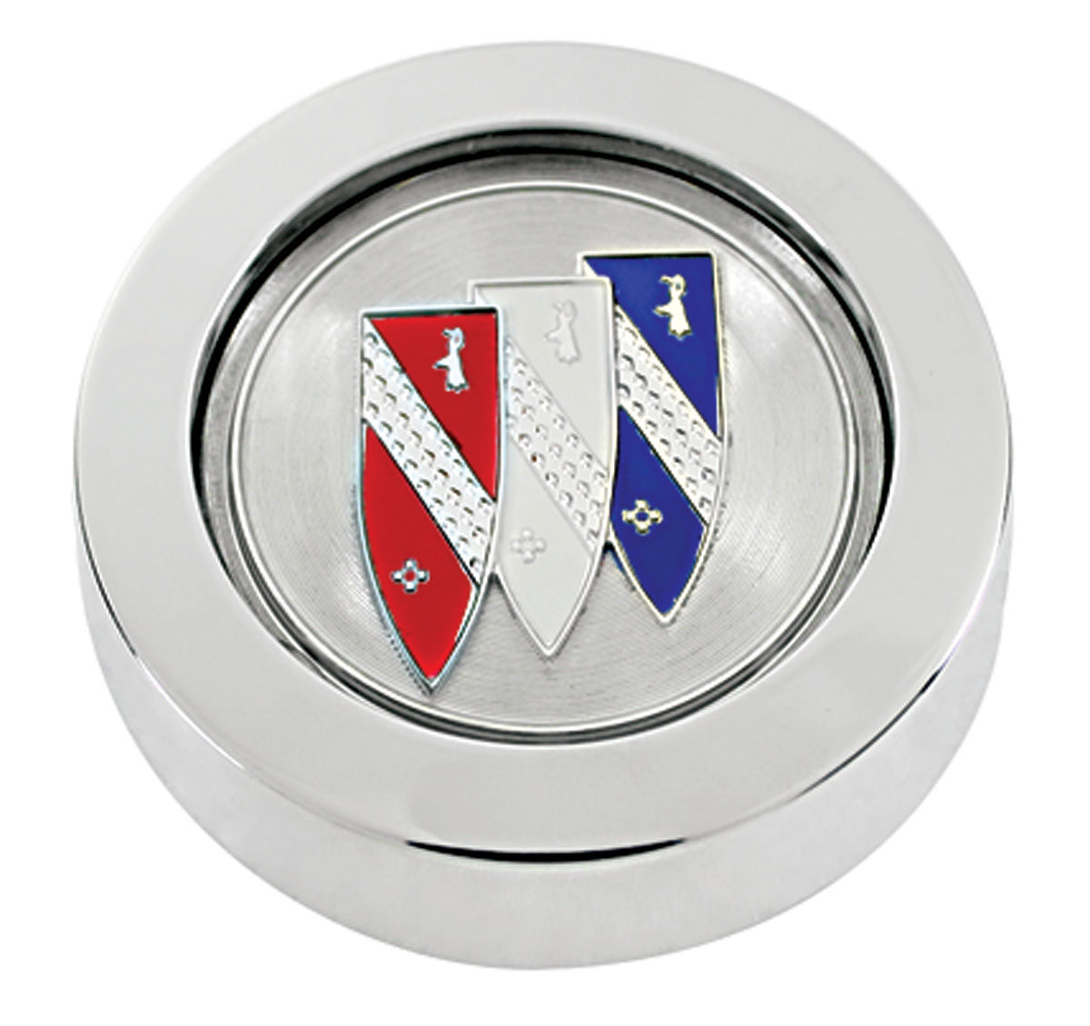 "Center Cap, Wheel, 1971-72 Buick, ""Tri-Shield"""