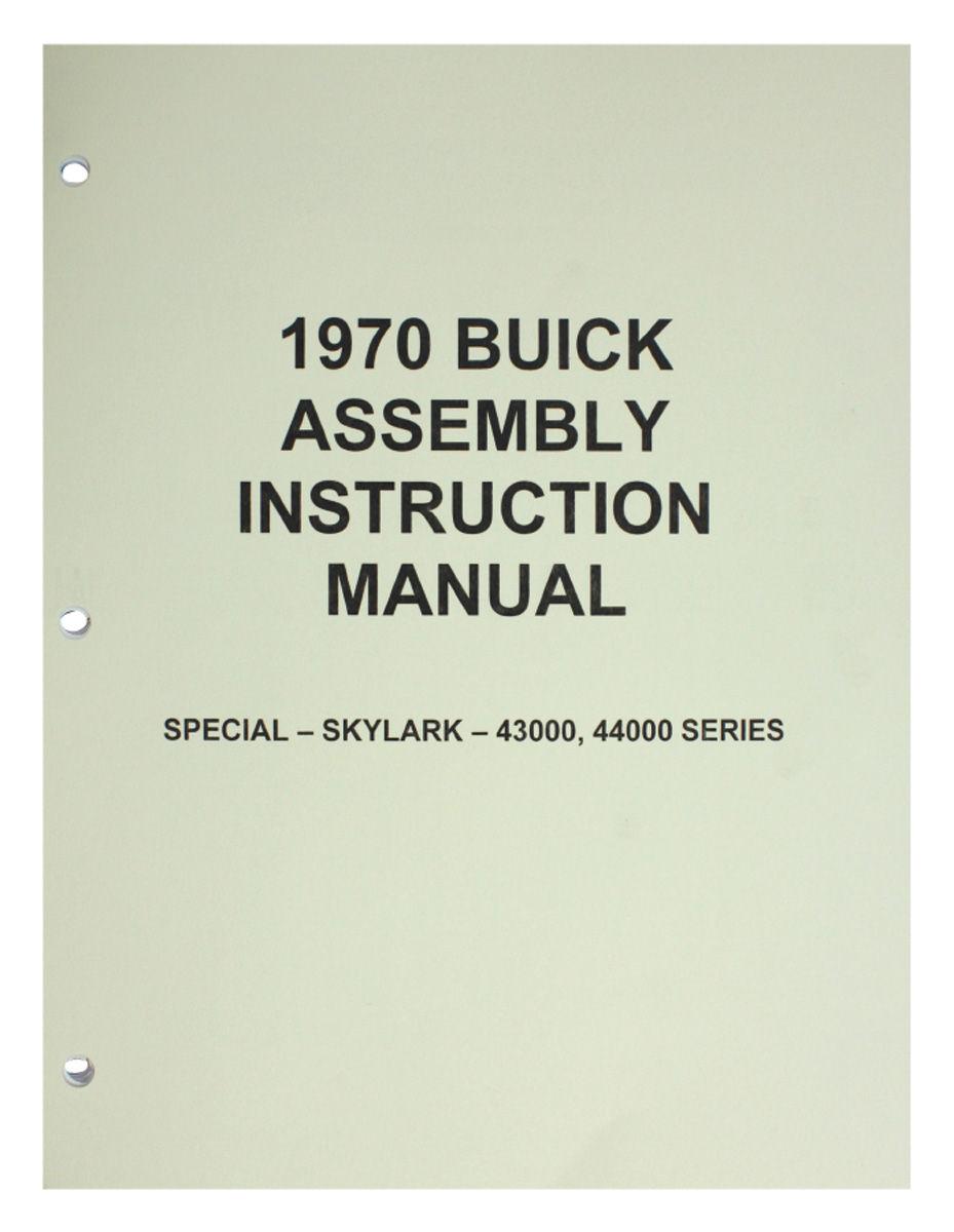 Assembly Manual, 1970 Buick