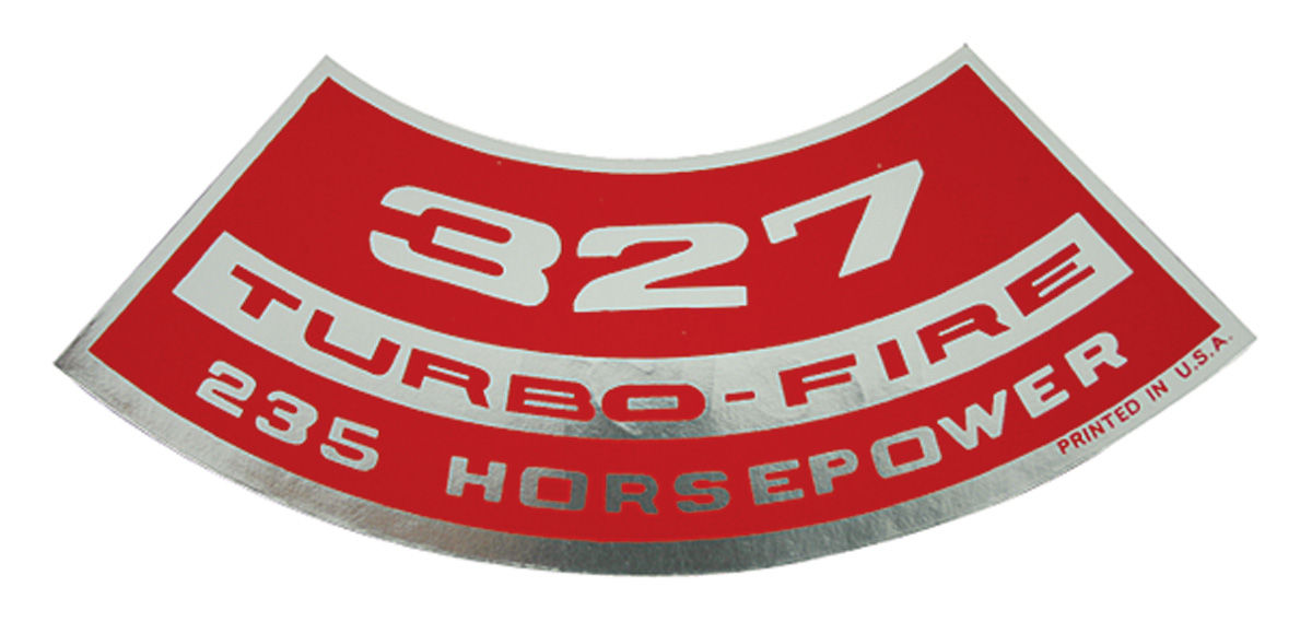 Decal, Chevelle/El Camino, Air Cleaner, 327 235HP Turbo-Fire