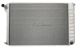Radiator, 1968-77 Chevrolet, BOP, Aluminum, MT, Polished