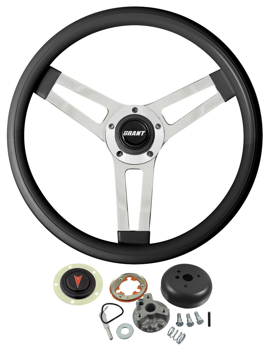 Steering Wheel Kit, Classic 5, 1959-63/1967-68 Pontiac, Black