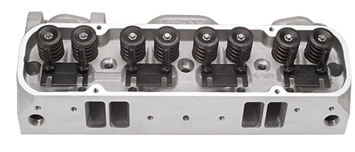Cylinder Heads, Edelbrock, Performer, 1965-77 Pontiac, 87CC Aluminum, Complete