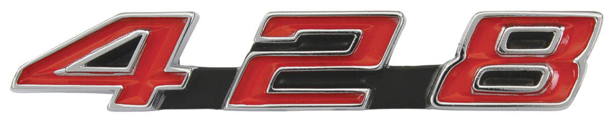 Emblem, Radiator Support, 1967-68 Bonneville/Catalina/Grand Prix, 428