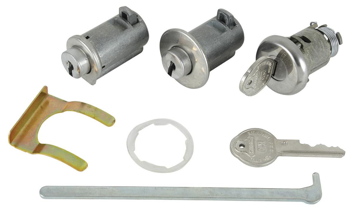 Lock Set, Glove Box/Console/Trunk, Pontiac Original Style Keys
