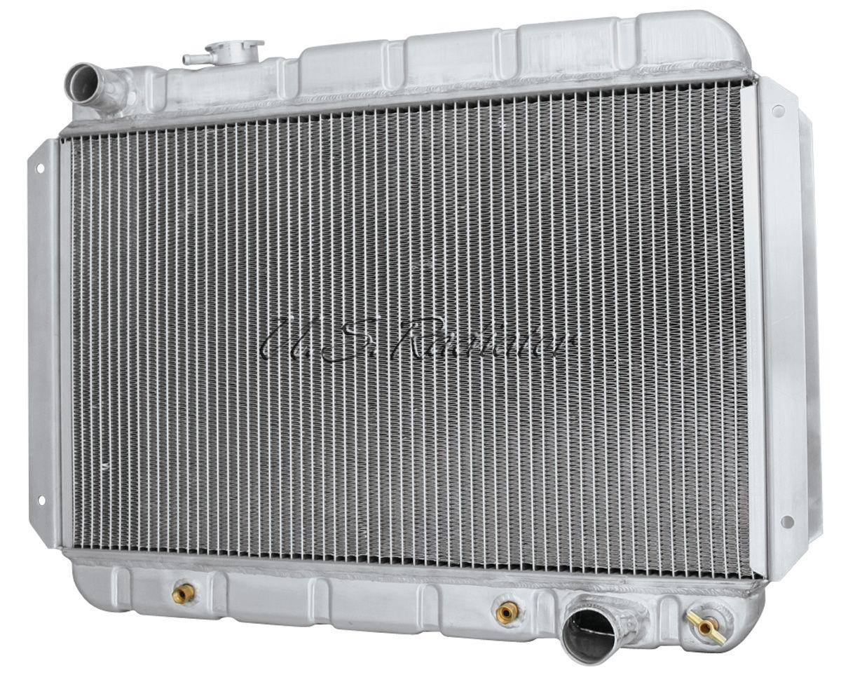Radiator, 1966-67 G/T/L, Aluminum, V8, AT, Satin