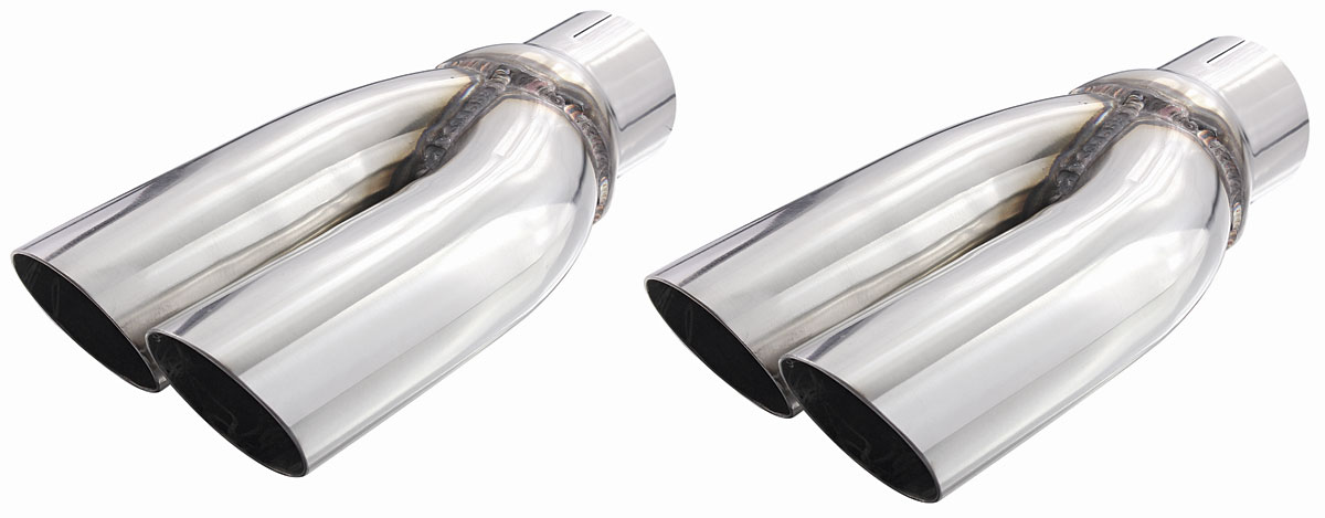 Exhaust Tips, Splitter, Pypes, 1970-71 GTO