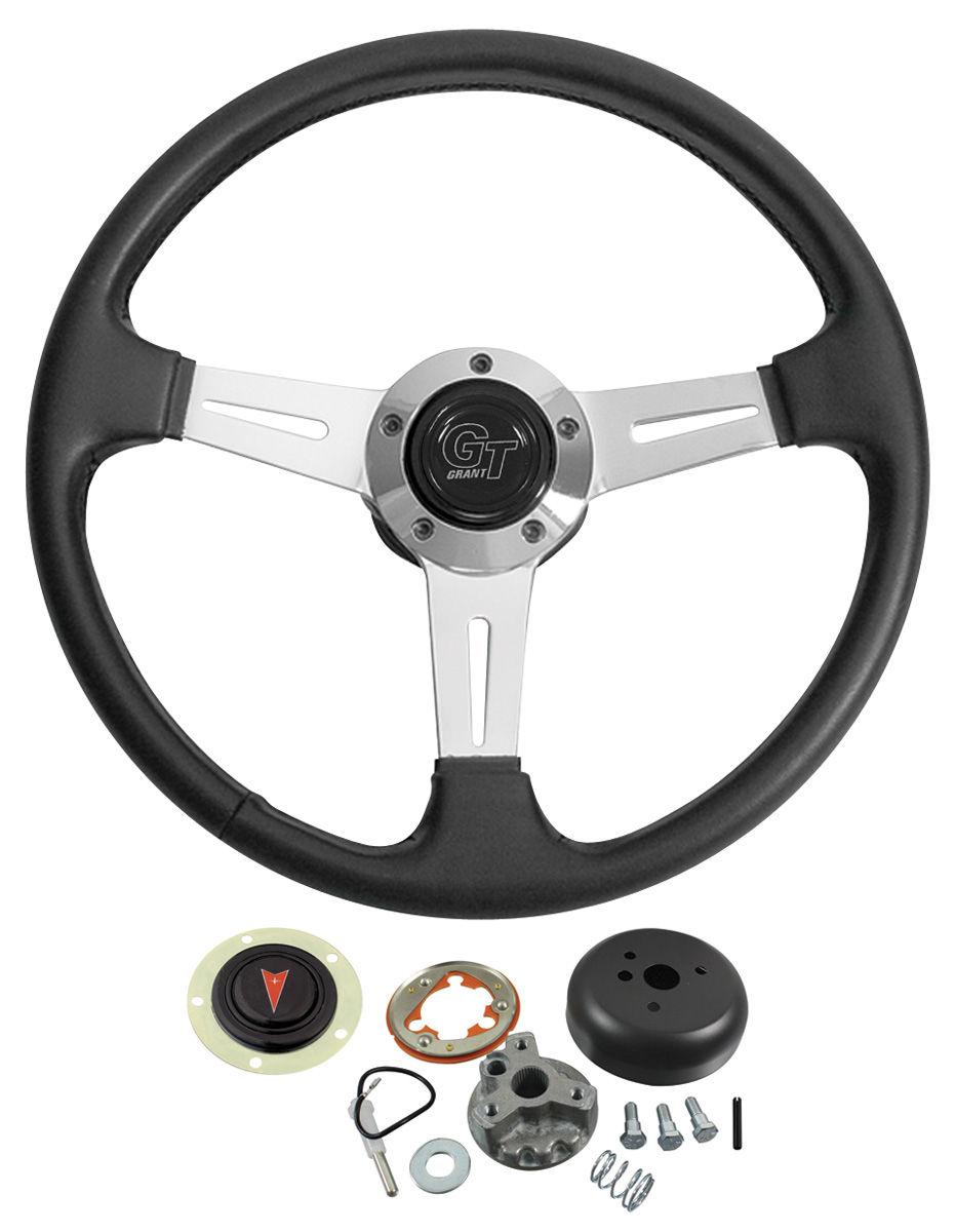 Steering Wheel Kit, Elite GT, 1964-66 Bonn/Cat/GP, w/ Standard Column, Black