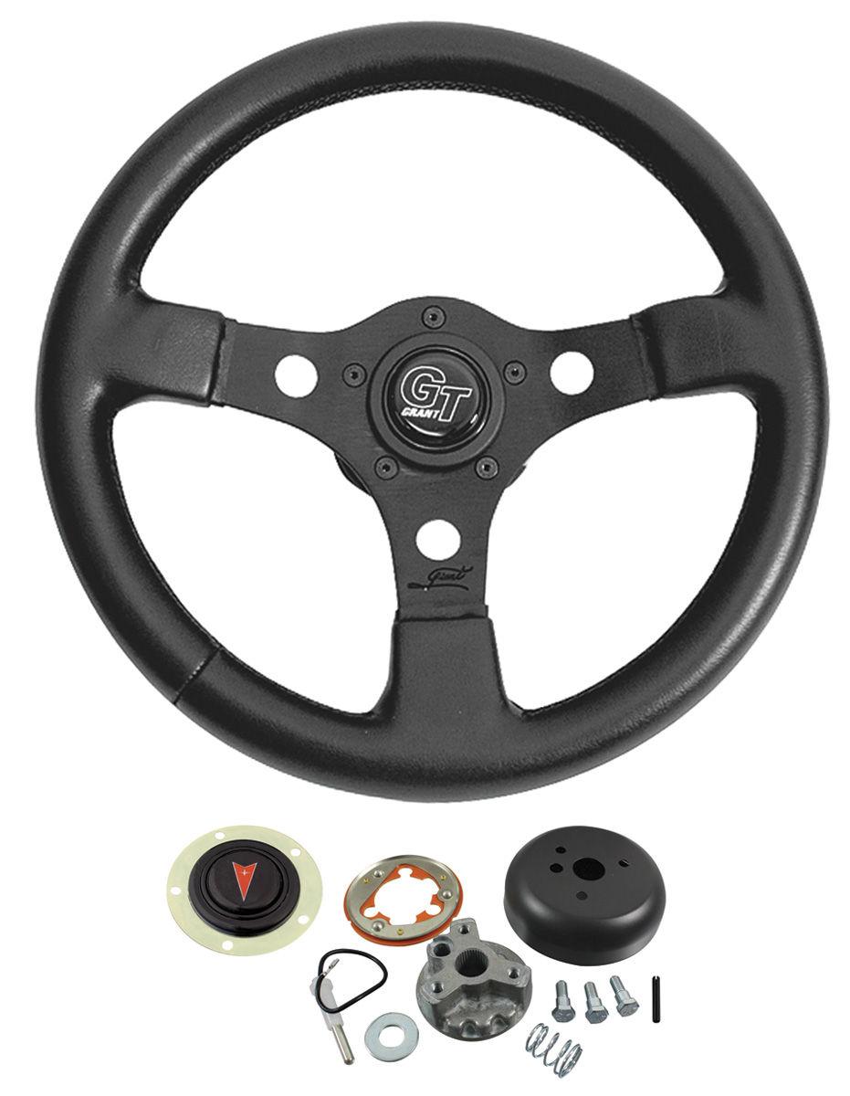 Steering Wheel Kit, Formula GT, 1965-66 Bonn/Cat/GP, w/ Tilt Column, Black