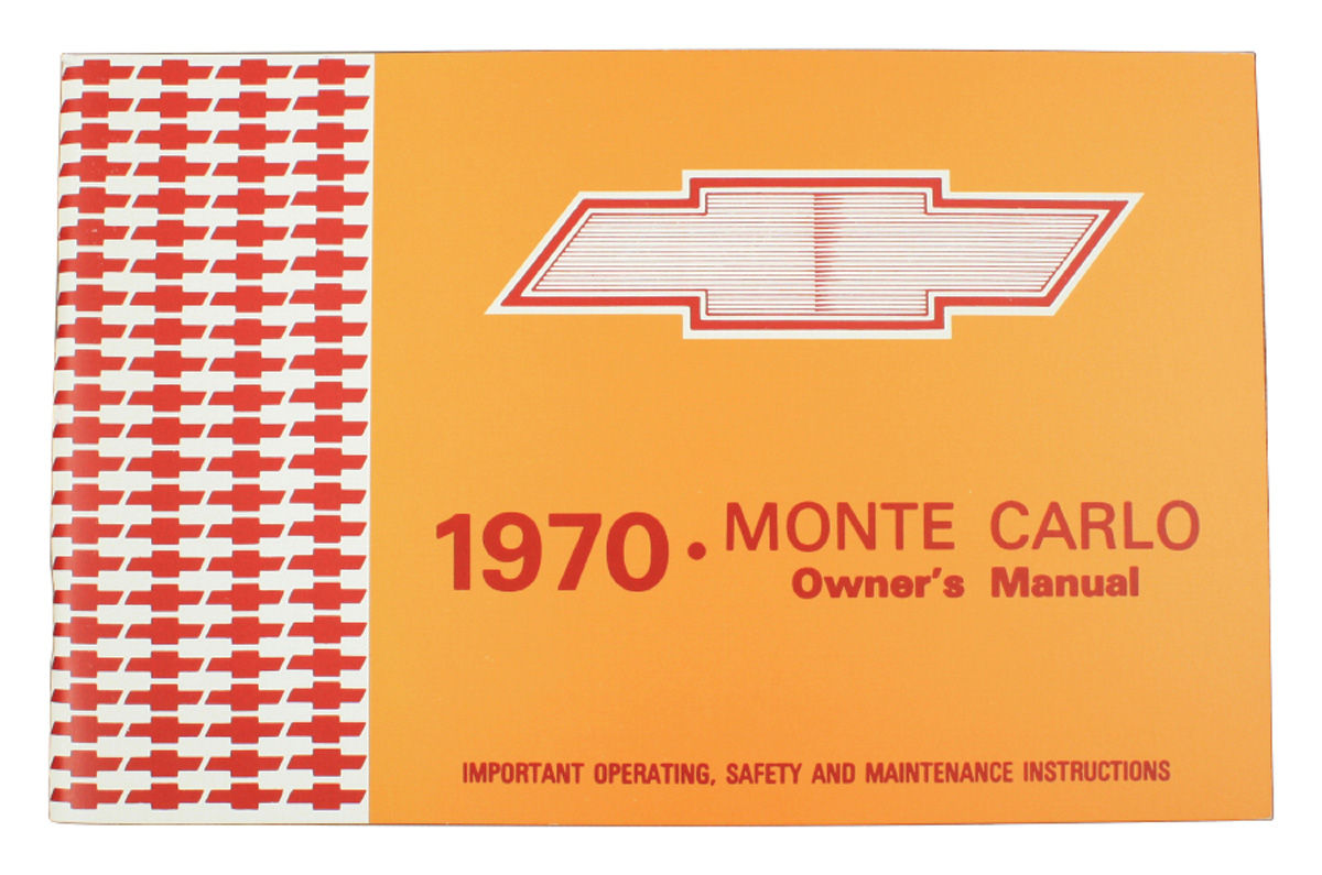 Owners Manual, 1970 Monte Carlo