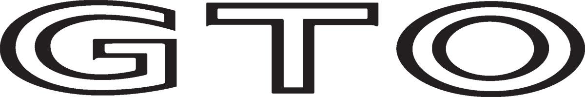 Decal, 68-73 GTO, Body, GTO, Black