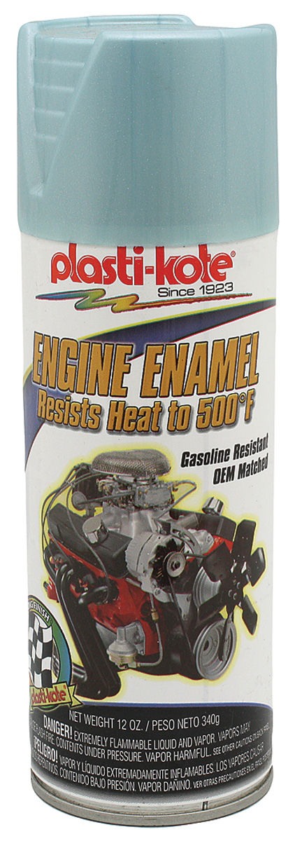 Paint, 500-Degree Engine Enamel, 1966-70 Pontiac Blue Metallic, 12-oz.