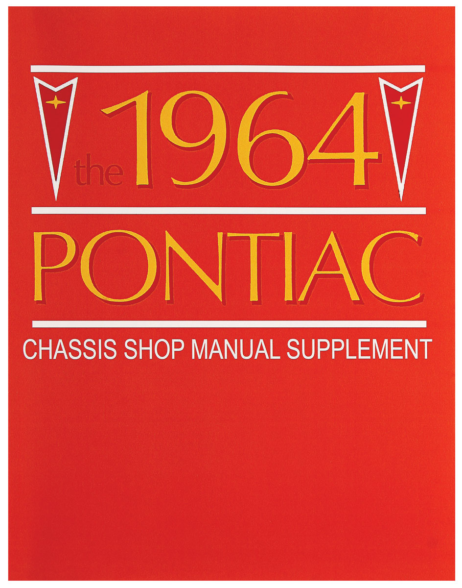 Manual, Chassis Service, 1964 Bonneville/Catalina/Grand Prix, Supplement to 1963