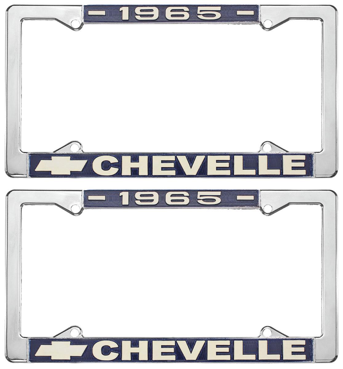 License Plate Frame, 1965 Chevelle