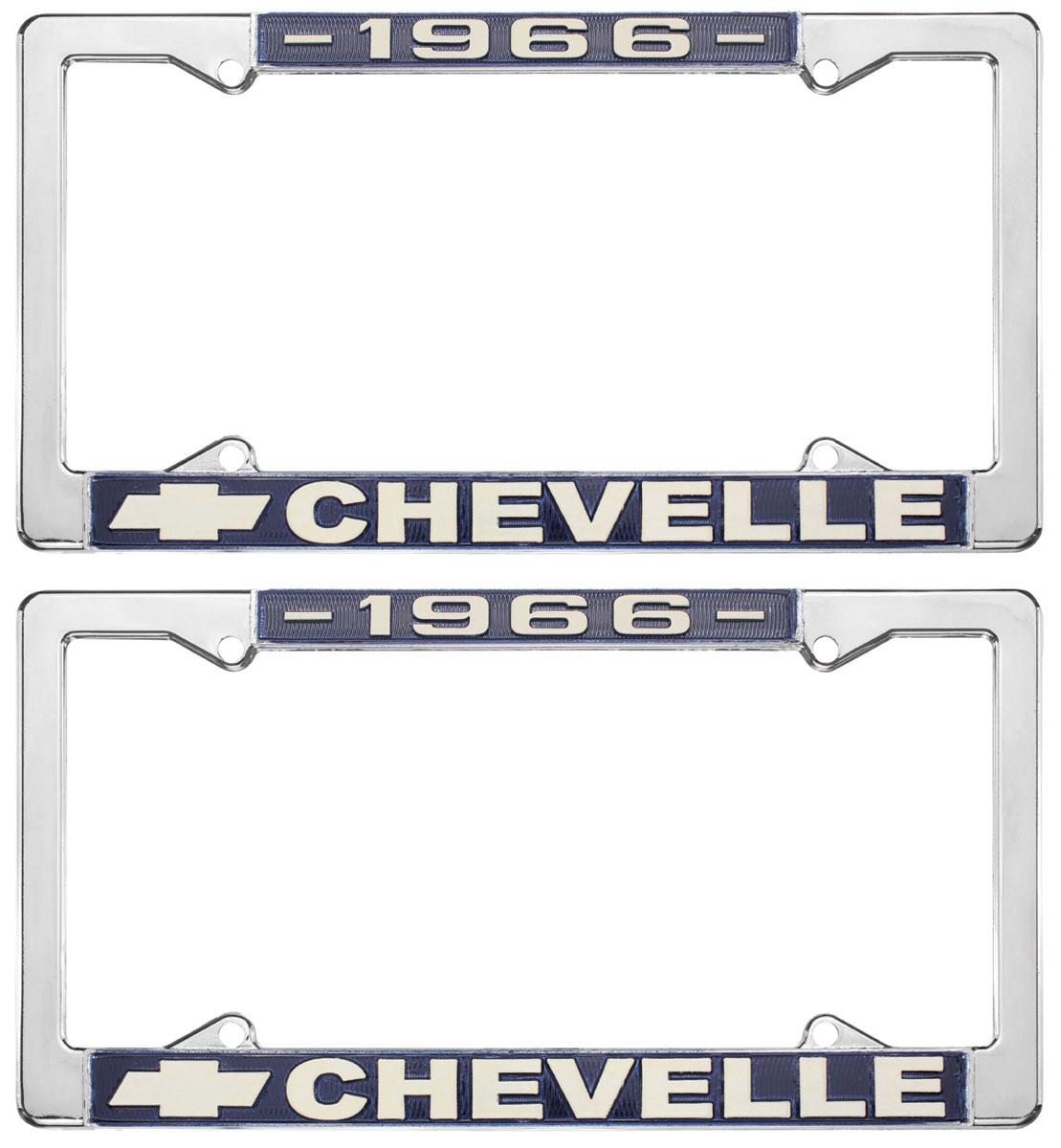 License Plate Frame, 1966 Chevelle