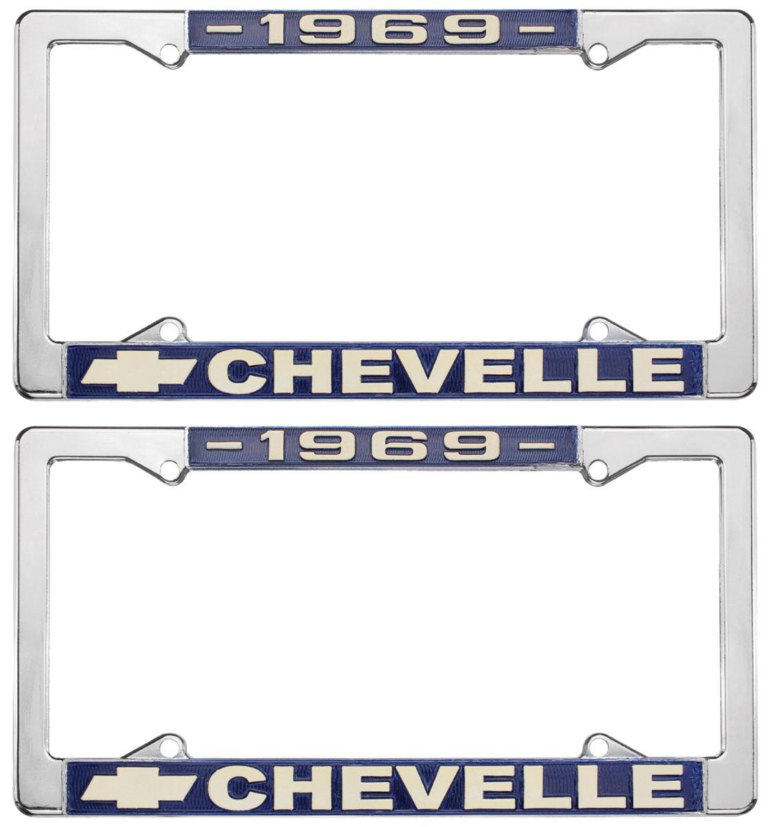 License Plate Frame, 1969 Chevelle