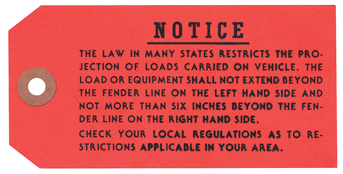 Tag, 68-71 Bonneville Catalina Tempest, Luggage Rack Instruction