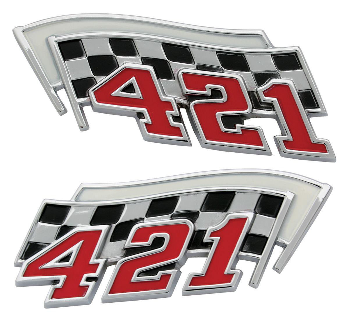 Emblem, Fender, 1962-64 Bonneville/Catalina/Grand Prix, 421