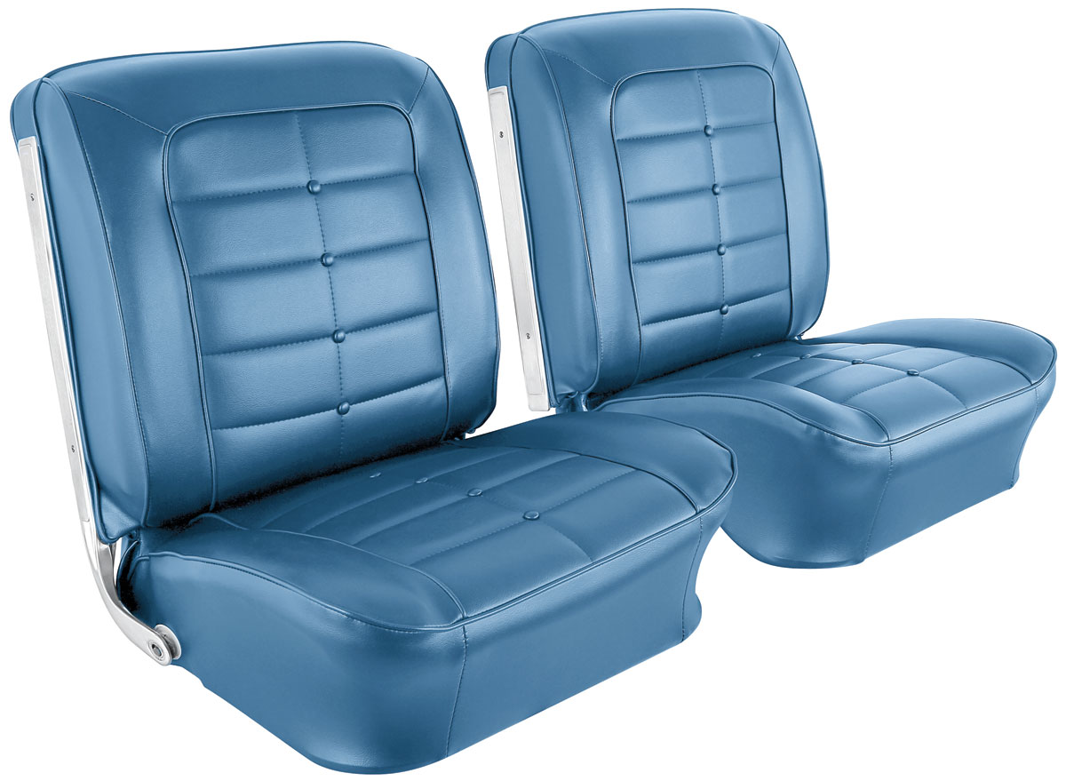 Seat Upholstery, 1965 Riviera, Standard Front Buckets
