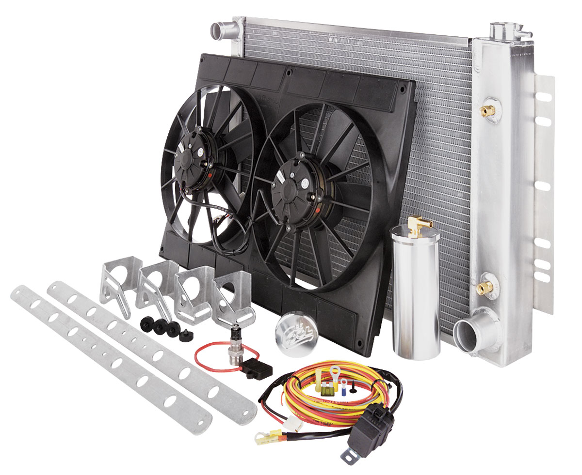 Radiator Module, Aluminum, Be Cool, 18