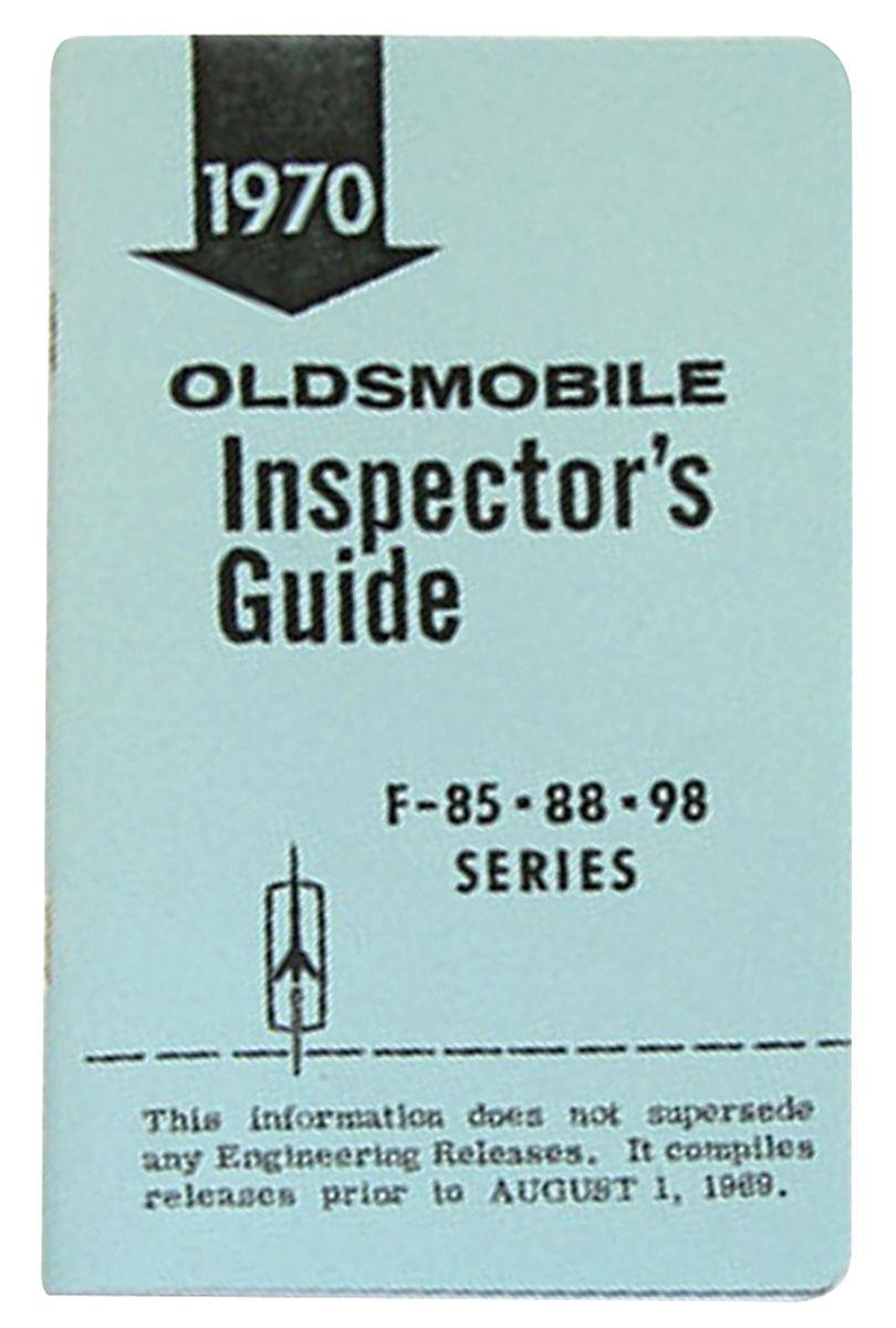 "Book, ""Line Inspector Guide"", 1970 Oldsmobile"