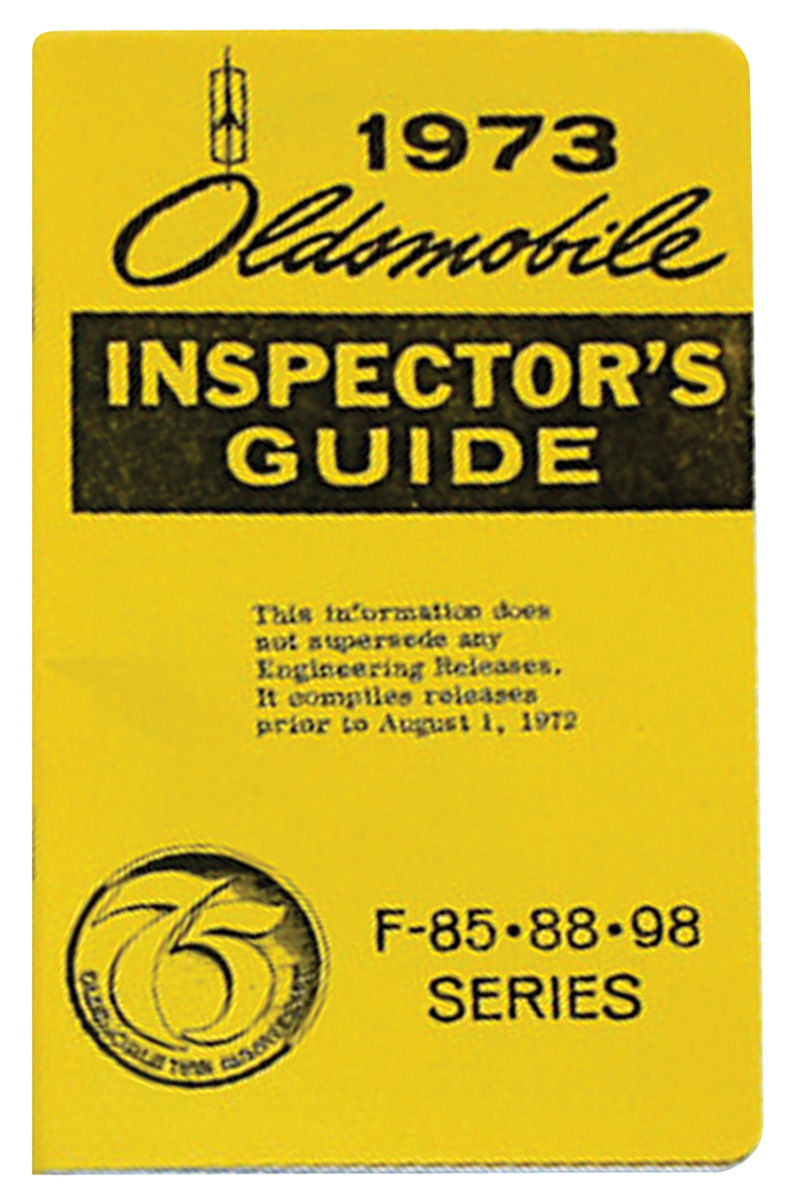 "Book, ""Line Inspector Guide"", 1973 Oldsmobile"