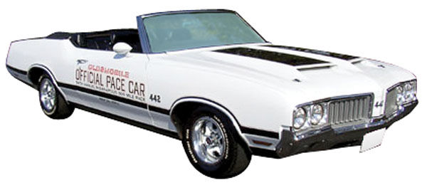 Decal, 70 Cutlass, Stripe Kit, 442, Pace Car