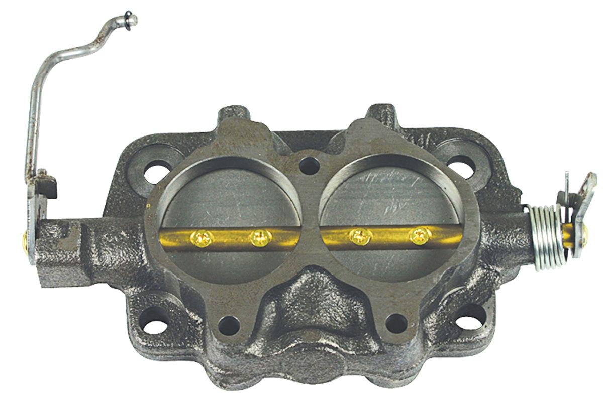 Base Assembly, Carburetor, 1966 Cutlass, Tri-Power, Front
