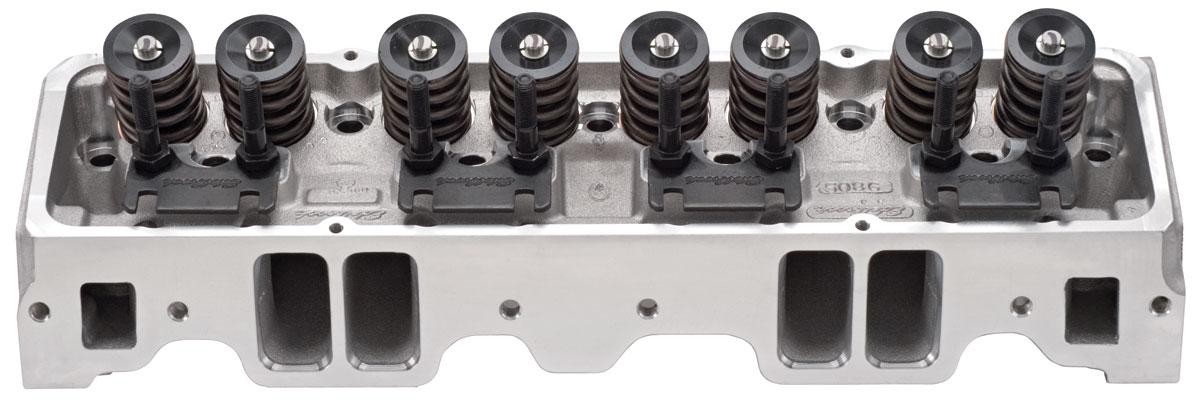 Cylinder Head, Edelbrock, E-Series, Aluminum, SB Chevy, 64CC, 1.55