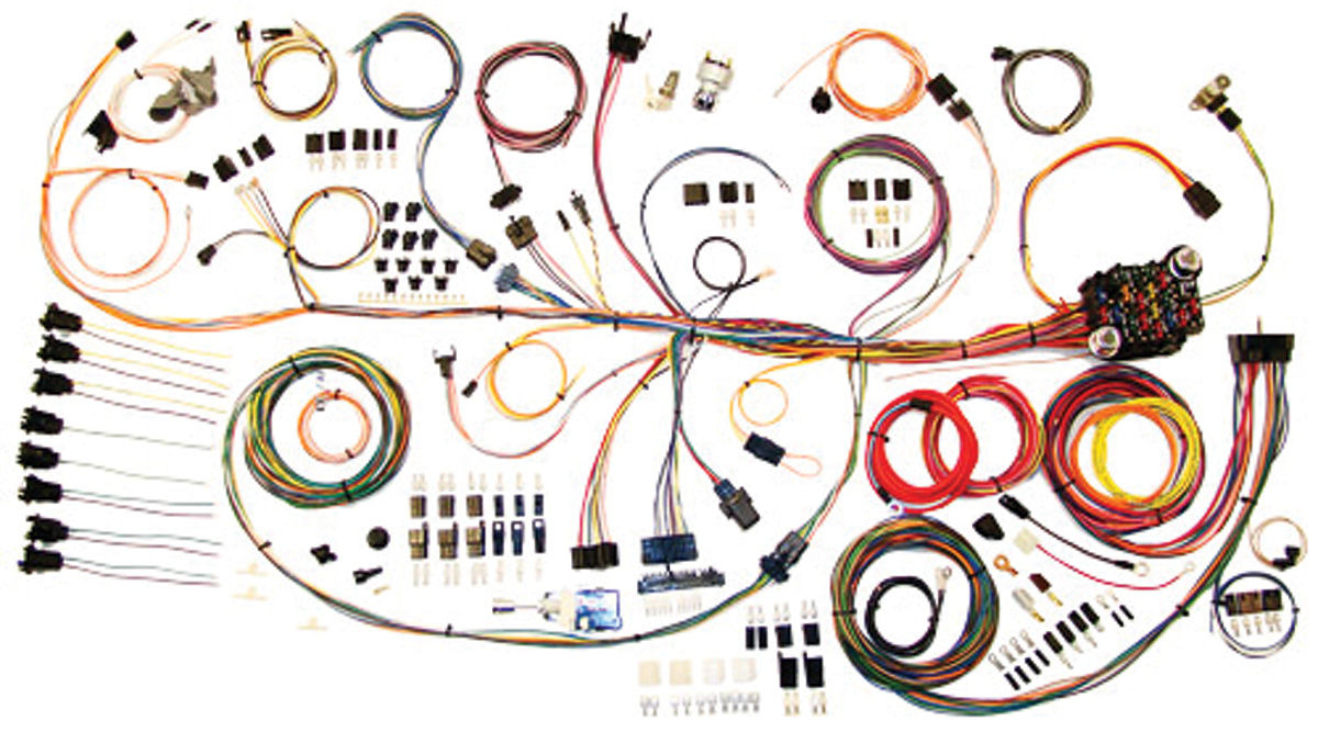 wiring harness kit, american autowire, classic update, 1964 67 gtl 1969 pontiac gto wiring diagram engine wiring harness v8 67 pontiac gto