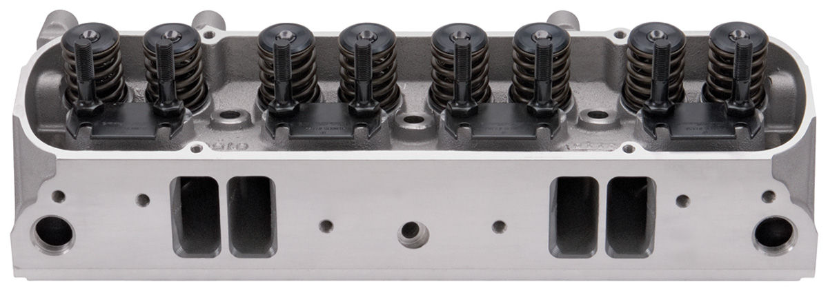 Cylinder Head, Edelbrock, Pontiac, Aluminum, D-Port, 87CC, Complete