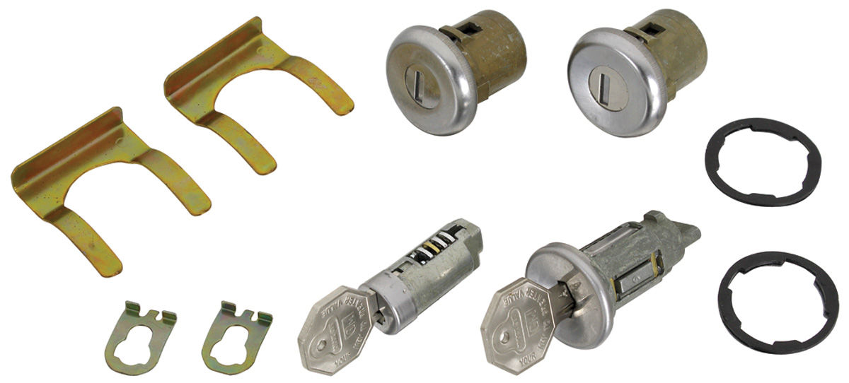 Lock Set, Ignition/Doors/Glove Box, 1966-67 Chevelle/El Camino