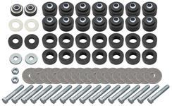 Bushing Kit, Body, 64-67 CH/CUT Cnv, 64-67 GTO/TP/LM/SL Cpe/Cnv , 28 pcs w/Hdw