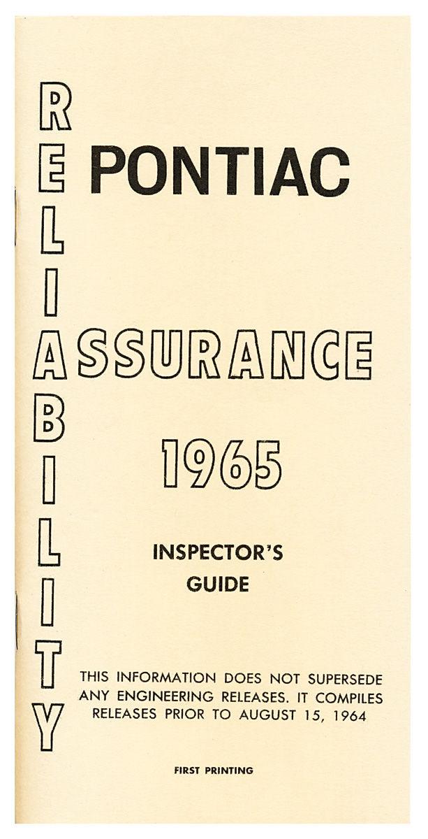 Inspectors Guides, 1965 Pontiac Grand Prix