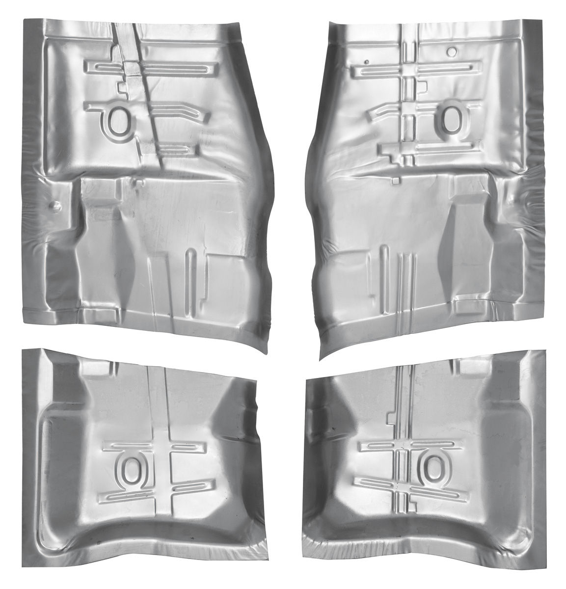 Floor Pan, Front/Rear, 1964-67 A-Body, Kit, 4pc